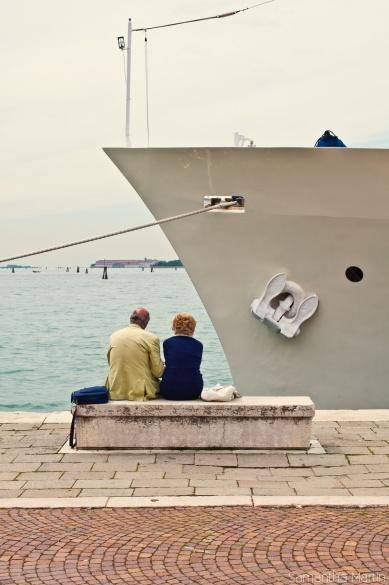 Couple enjoying Venice